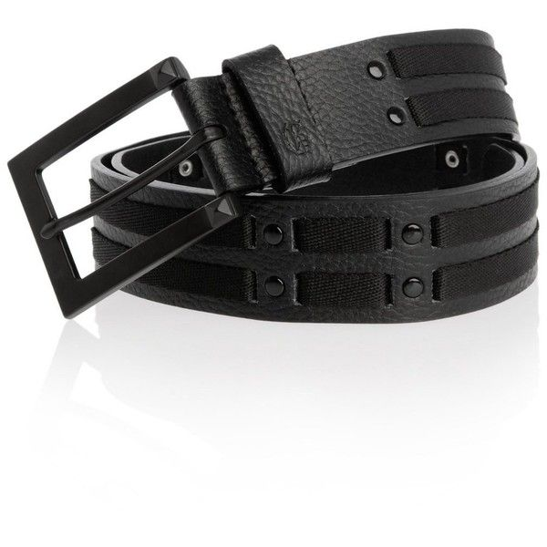 G by GUESS Woven Stud Panel Belt ❤ liked on Polyvore featuring accessories, belts, braided belt, g by guess, woven belt and studded belt