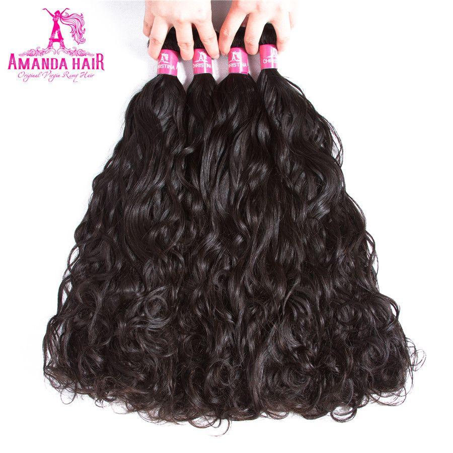 Amanda Hair Water Wave Bundles Natural Color Brazilian