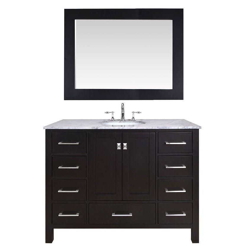 Stufurhome Inch Malibu Espresso Single Sink Bathroom Vanity - 47 inch bathroom vanity for bathroom decor ideas
