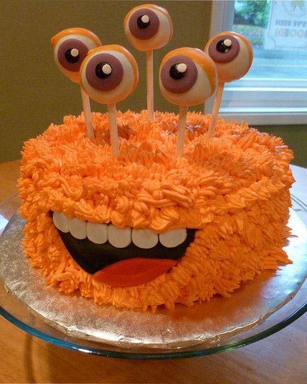 Halloween Kuchen Deko - wahnsinnige Torten Ideen | Kindergeburtstag on