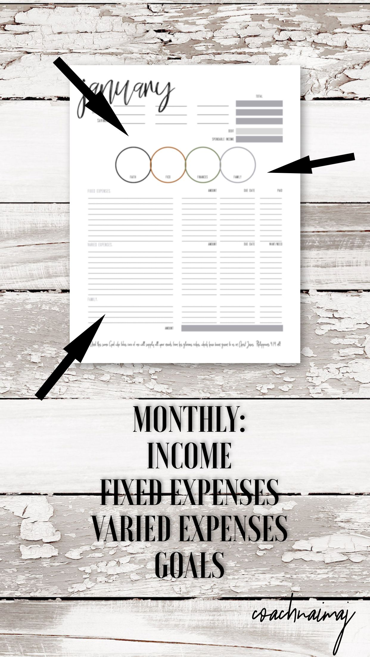12 Month Budgeting Worksheet Monthly Financial Goal