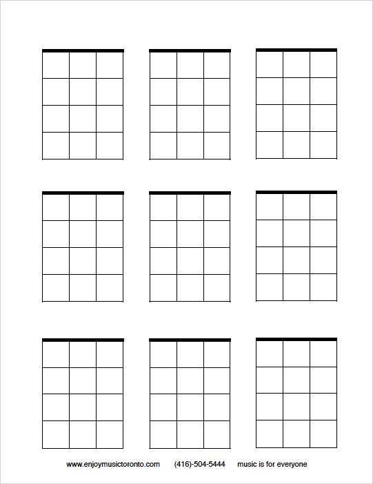 tifem ukulele blank chord blocks  music lessons  the