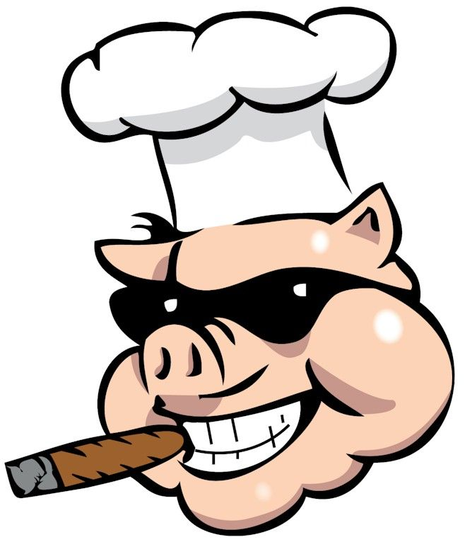 Pig evil. Bbq logo cliparts co