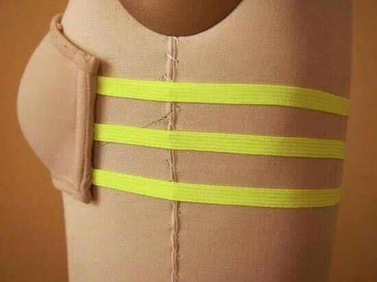 Sew elastic straps for a cute look under backless tops!