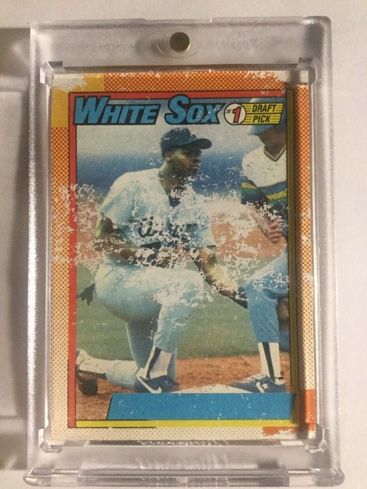1990 topps frank thomas nnof rookie rc rare see pictures