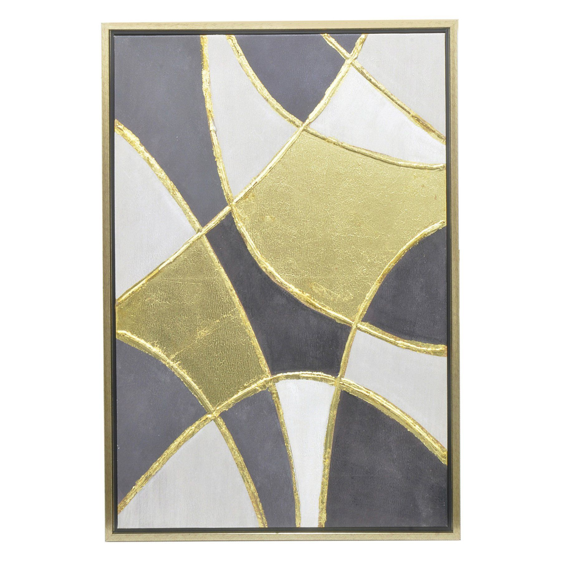 Three Hands Overlapping Shape Oil Painting Wall Art - 23131 ...