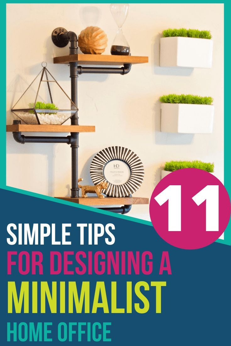 Minimalism doesn't have to look stale or boring. This step by step guide will help you achieve a clean, stylish minimalist home office that you will love! #homeoffice #officedecor #officedesign #designtips #officedesigntips #minimalism #minimalist