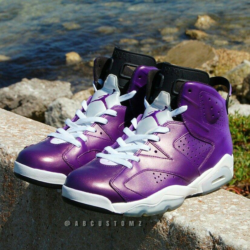 buy online fe069 2ac60 Custom Jordan 6. Purple Haze