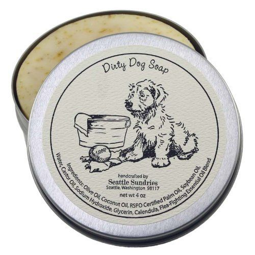 Dirty Dog Soap - Solid Shampoo Bar, 100% Natural & Handcrafted, in Reusable Travel Gift Tin by Seattle Sundries, http://www.amazon.com/dp/B00CTMHOMO/ref=cm_sw_r_pi_dp_fka7sb1QGFA8MJD2