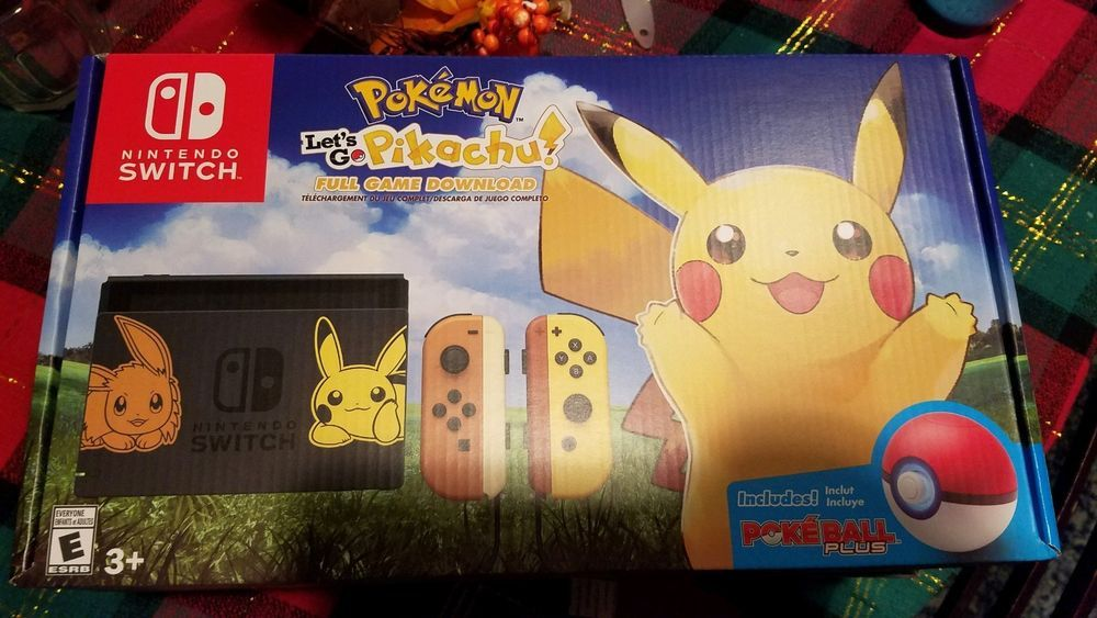 Brand New Nintendo Switch Pikachu Edition Pokemon Let S Go Pikachu