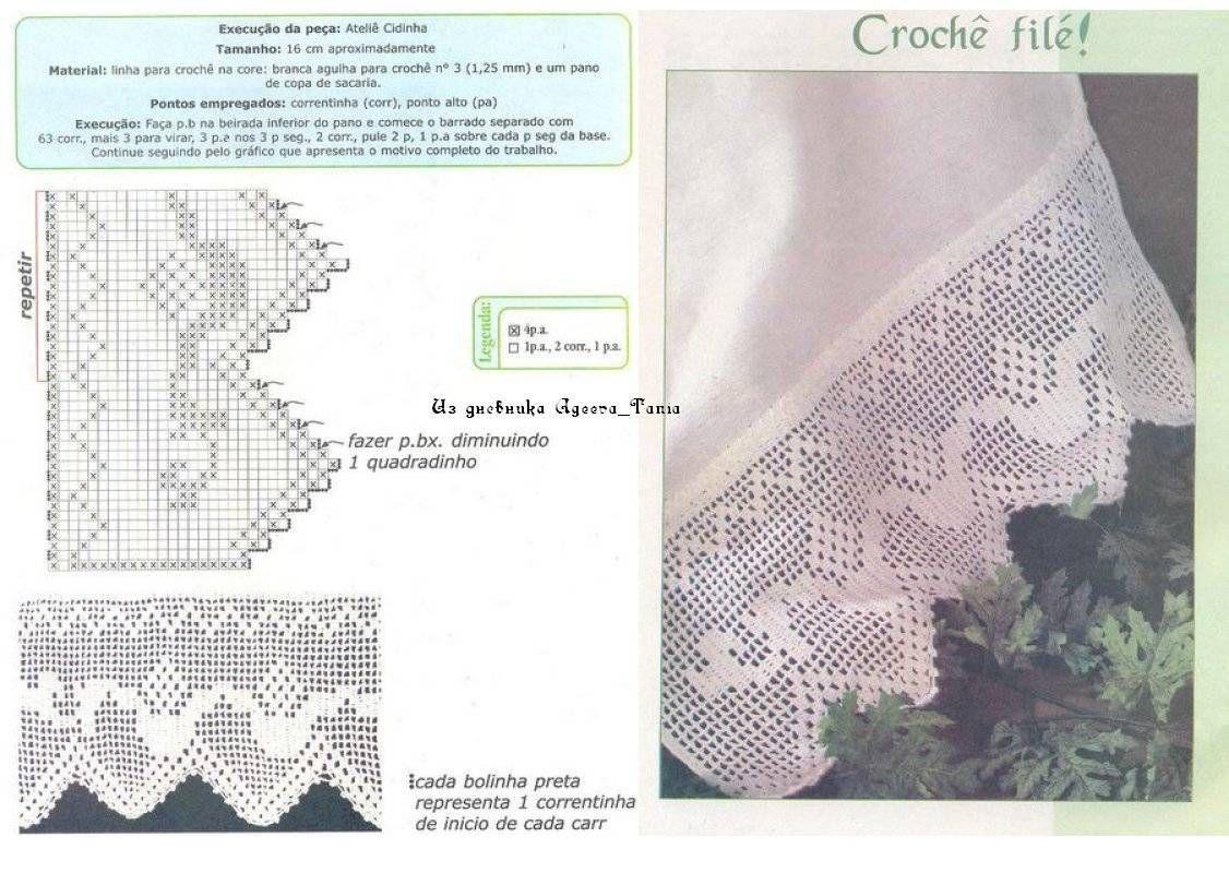 Crochet Knitting Handicraft: many edges filet