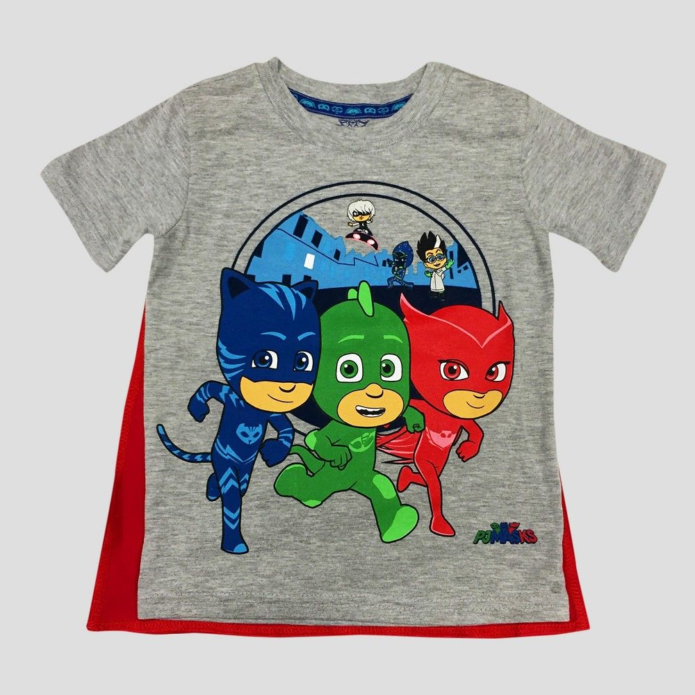 640ea97a Toddler Boys' PJ Masks Short Sleeve T-Shirt With Cape Gray - 5T, Toddler  Boy's