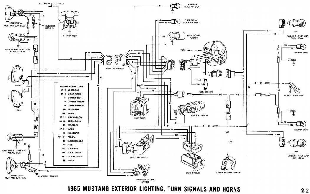 17 99 Mustang Wiring Diagram 1965 Mustang Mustang Diagram