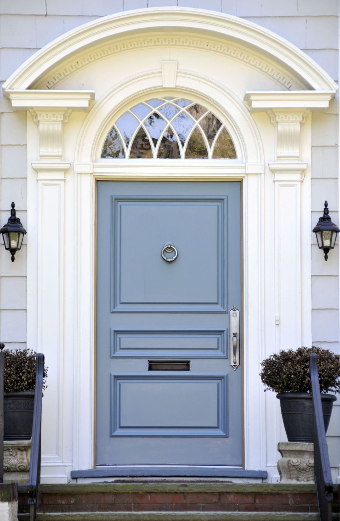 21 Cool Blue Front Doors for Residential Homes | Black planters ...