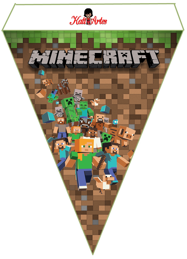 Bandeirola minecraft pinterest kinderzimmer - Minecraft kinderzimmer ...