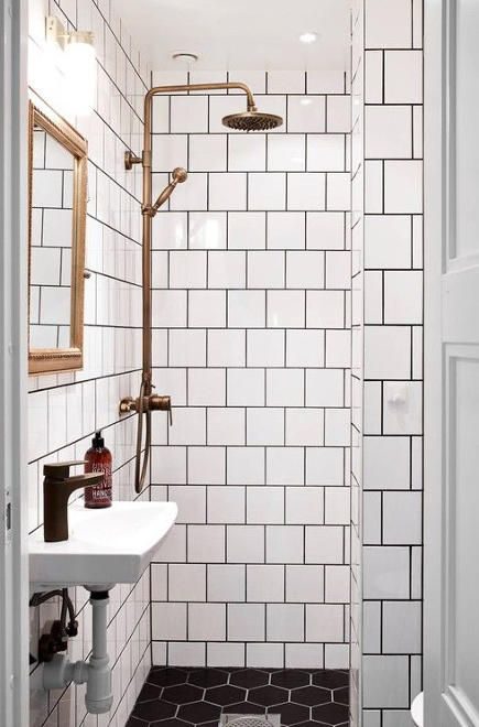 Brass Bathroom Fixtures Swedish Bath With White Tile Black Ground - White bathroom faucet fixtures