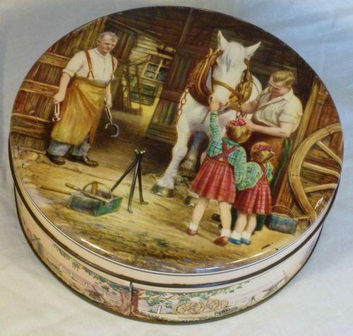 "Huntley & Palmers ""Blacksmith"" Biscuit Tin 1954"
