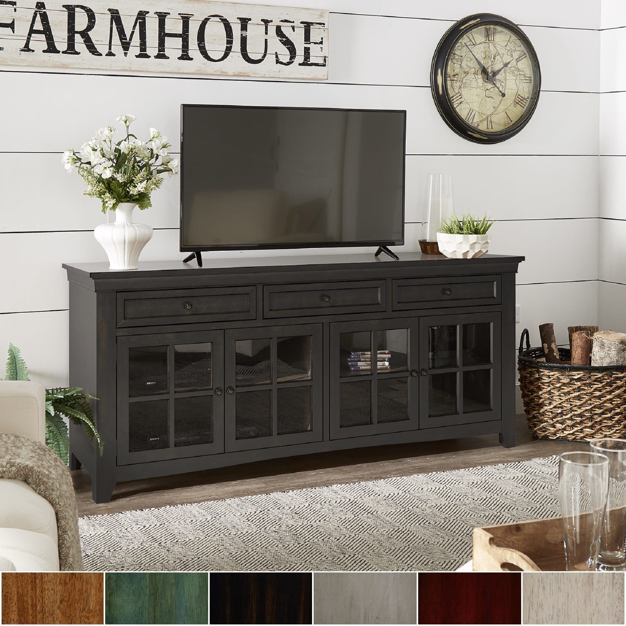 Overstock Com Online Shopping Bedding Furniture Electronics Jewelry Clothing More Tv Console Table Tv Stand With Glass Doors Tv Console
