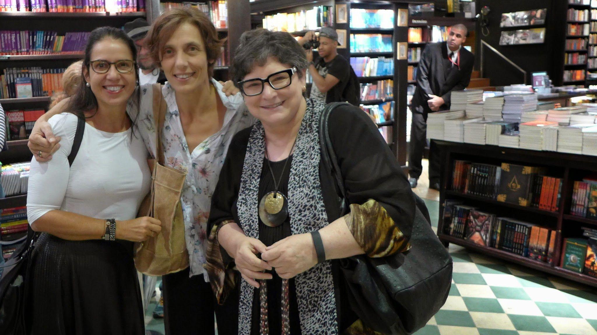 Marina Hirsh, Laura Di Pietro e Cora Rónai