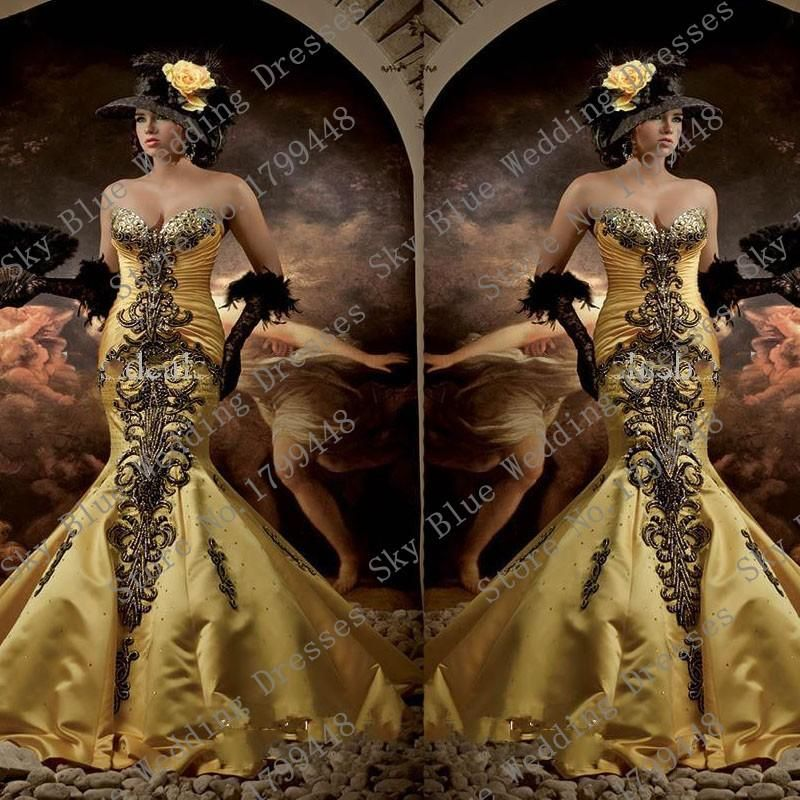 Luxury sweetheart Beaded prom dresses india gothic victorian dresses With Rhinestones Dubai evening gowns Mermaid Satin Party