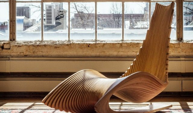 Modern Wooden Rocking Chair The Diwani By Ae Superlab 6