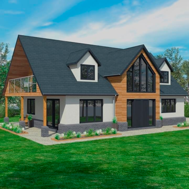 From Shack To New England Splendour Scandia Hus In 2020 House Plans Uk Self Build Houses Building A House