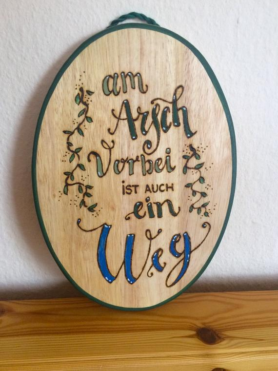 German Sign Gift For Friend Birthday Funny Saying