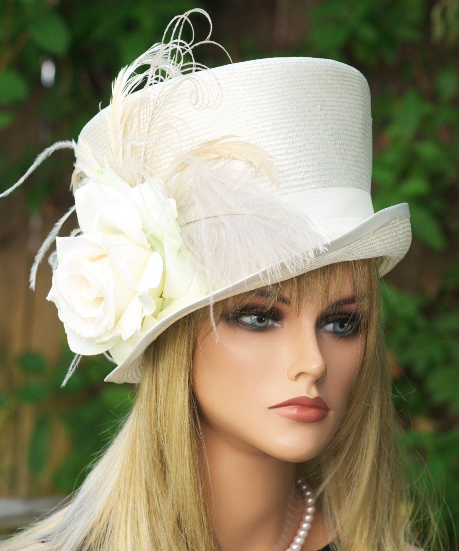Wedding Hat Ascot Derby Women S Cream Ivory White Victorian