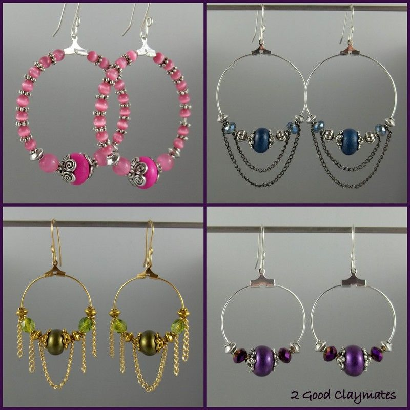 2 Good Claymates: How to Make Easy Peasy Fun Hoop Style Earrings ...