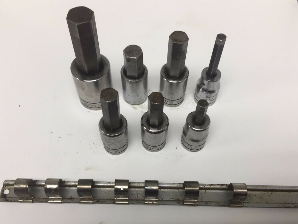 Details About Snap On Wright Proto Lot Of 7 1 2 Dr Hex Bit Socket 3 4 5 8 9 16 5 16 1 2 7 16 Socket Set Ebay Things To Sell