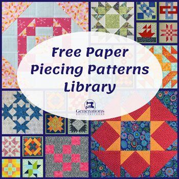 Free Paper Piecing Patterns Library #paperpatterns