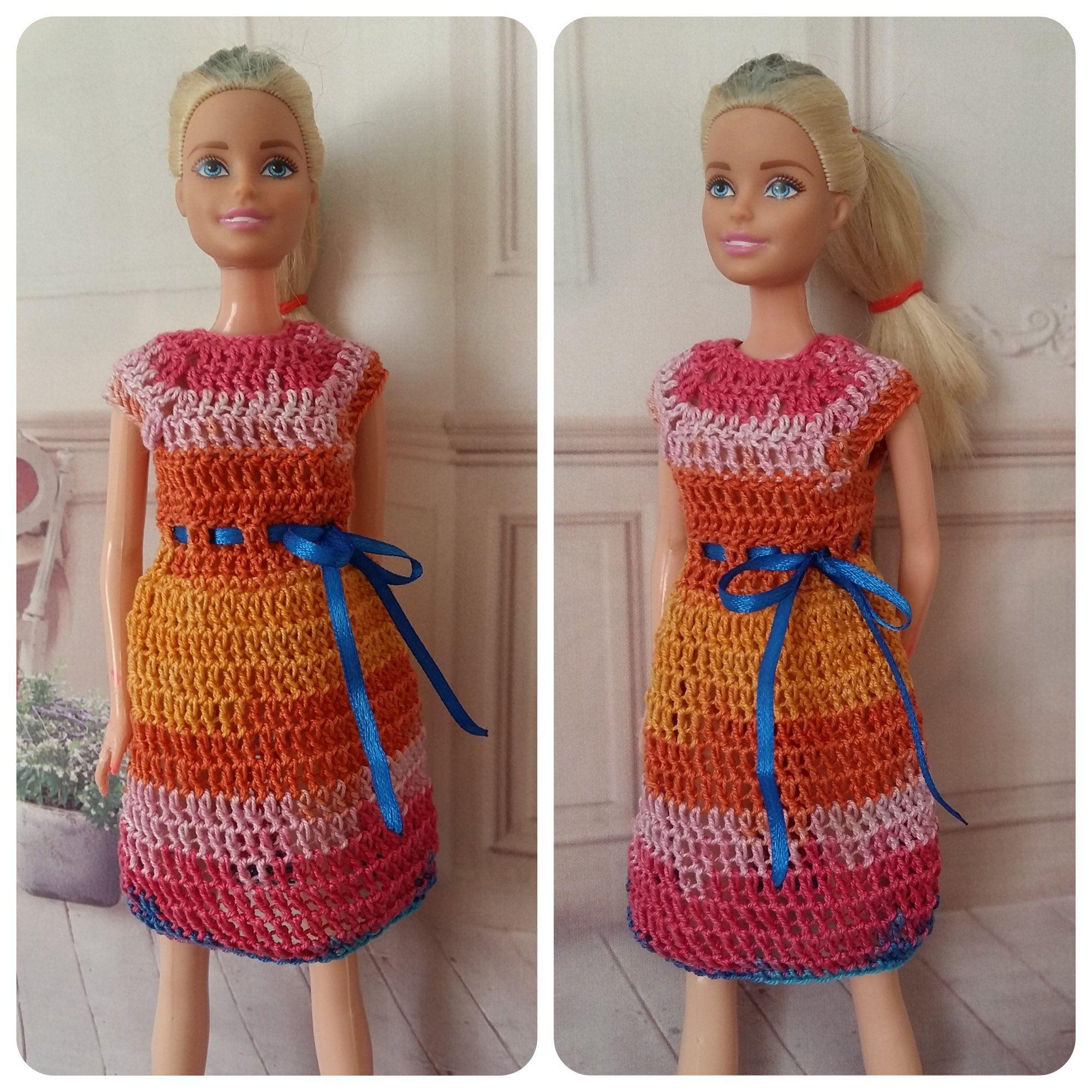 Barbie coat, barbie doll gown, barbie doll sweater, barbie clothes set, Fashionista barbie, Barbie gown Barbie knitting curvy barbie clothes #crochetedbarbiedollclothes