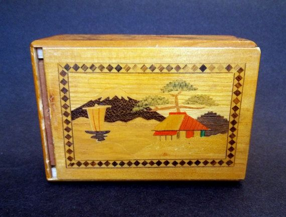 Japanese Puzzle Box Vintage Antique Himitsu Bako Personal Secret