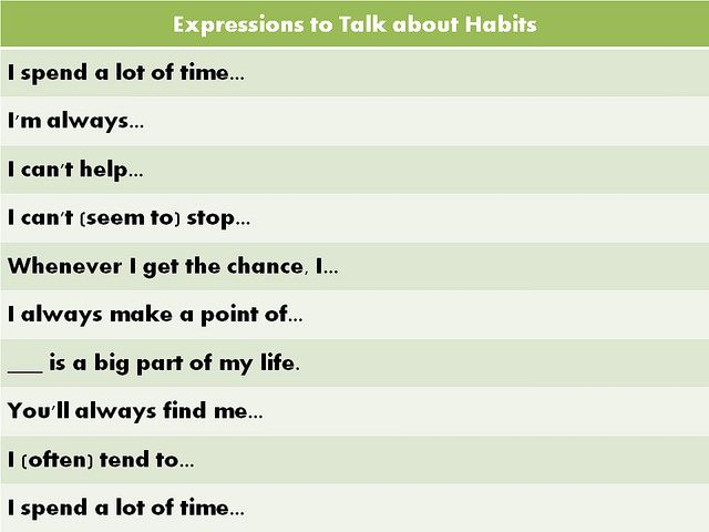 Forum | Learn English | Common Phrases to Talk about Habits | Fluent Land