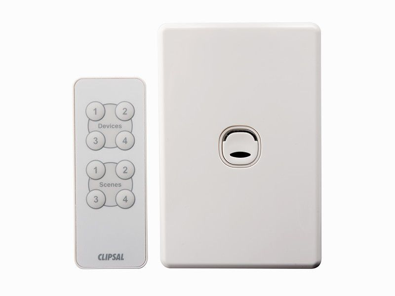 Clipsal Push Button Wall Light Switch Dimmer Remote Control