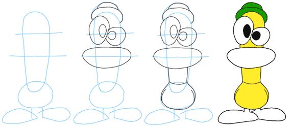 como dibujar a Pato  Personajes  Pinterest  Dibujar Patos y Dibujo