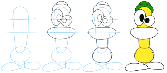 Como Dibujar A Pato Png 570 250 Easy Drawings Drawings Doodles
