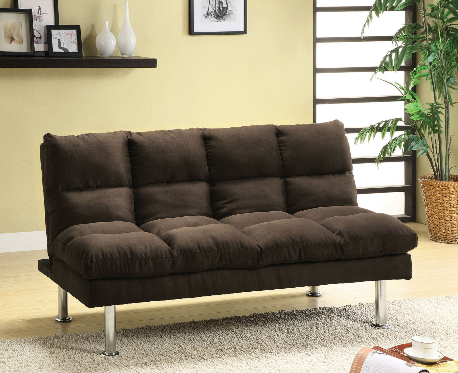 The New Furniture Of America Saratoga Sofa Futon Provides A Comfortable Seat And Beautiful Style Learn More Save Right Here At Las Vegas