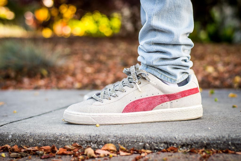 ed415c28007 WDIWT - See my on foot video review of these Puma Suede X Alife Whisper  White + where to find em