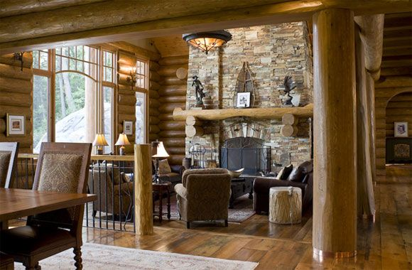 Country style incl lodge/rustic styles Rustic lodge and log cabin