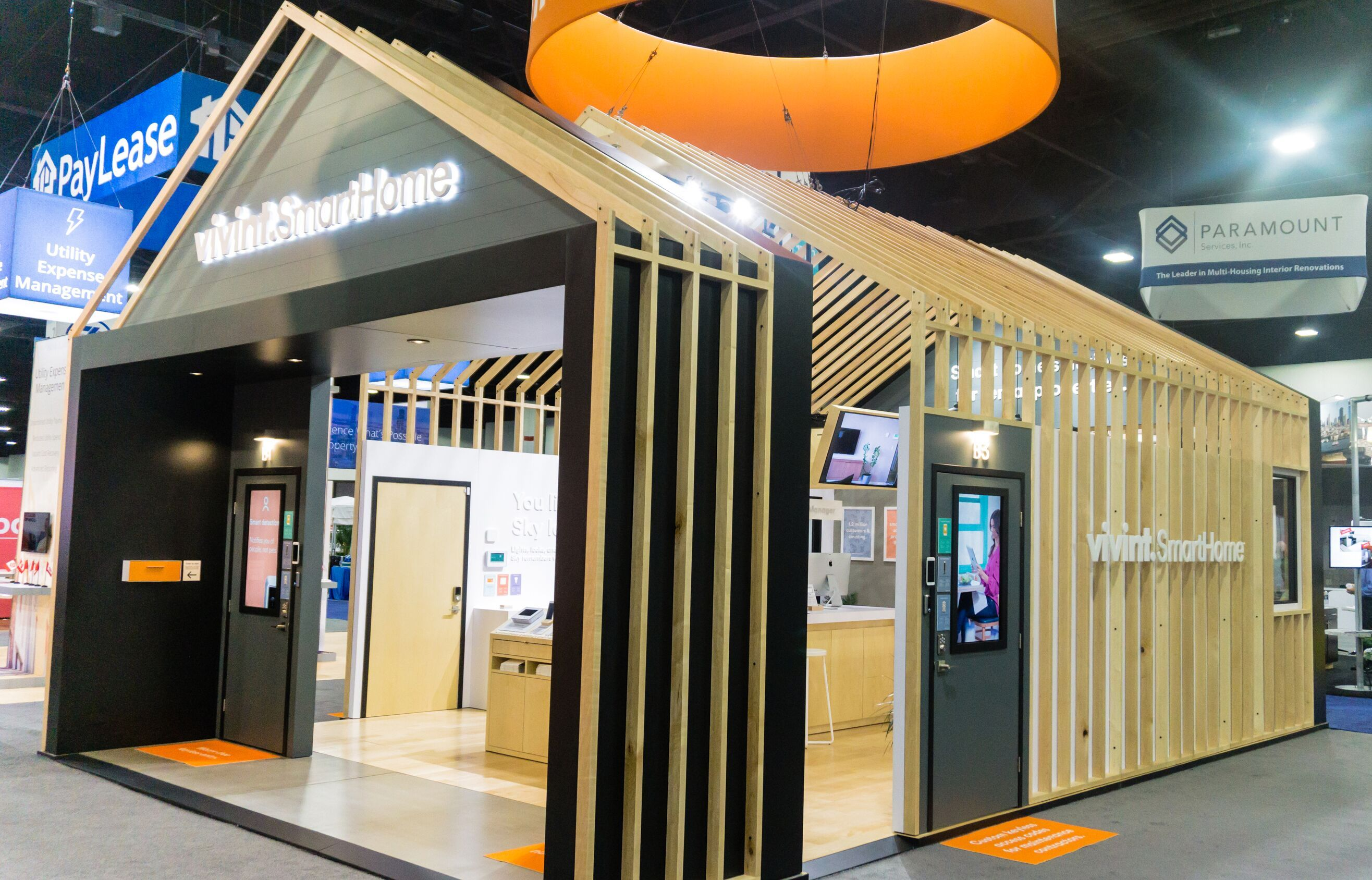 Expo Stands Trade Fair 2017 : Vivint smart home booth at naa by mackenzie exhibit