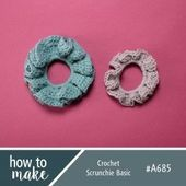 A685 Crochet Scrunchie Basic #crochetscrunchies A685 Crochet Scrunchie Basic,  #A685 #Basic #... #crochetscrunchies