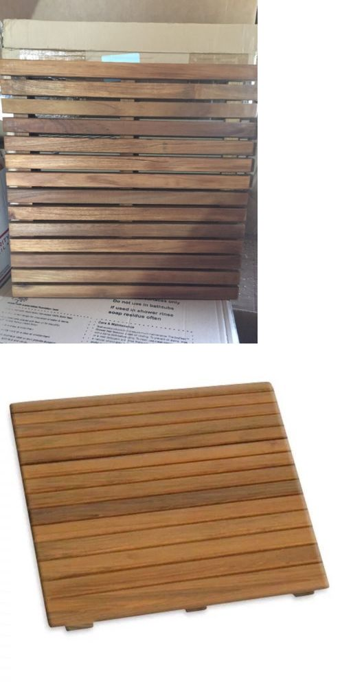 Non-Slip Appliques and Mats 66722: Teak Bathroom Shower Mat Tub Bath Spa Wood Indoor Outdoor Water Resistant 20X20 -> BUY IT NOW ONLY: $49.99 on eBay!