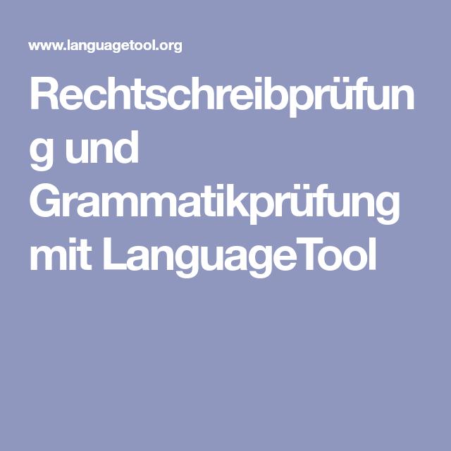 Rechtschreibprüfung und Grammatikprüfung mit LanguageTool