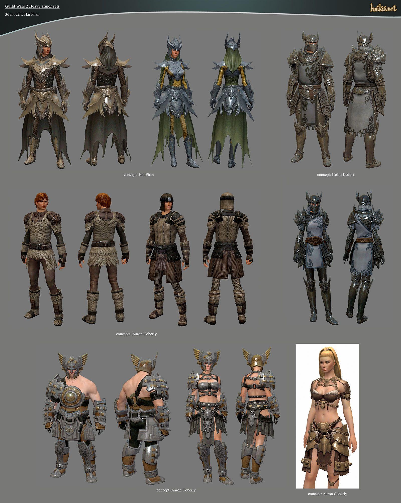 Guild Wars 2 Heavy Armor Sets by haikai13 Guild wars