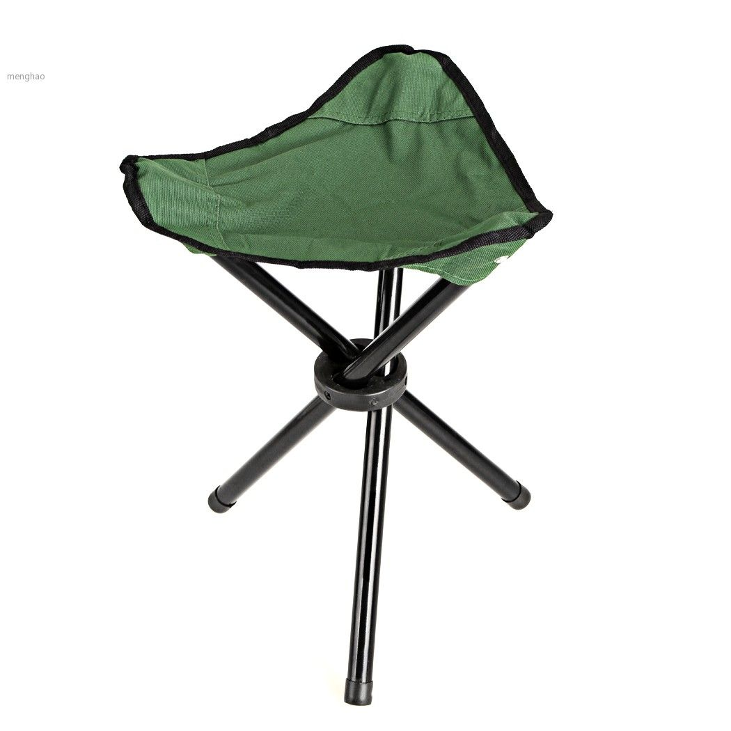 Camping Folding Stool Chairs Portable Light Weight Outdoor Camping Chair  With 3 Leg Stool Green #