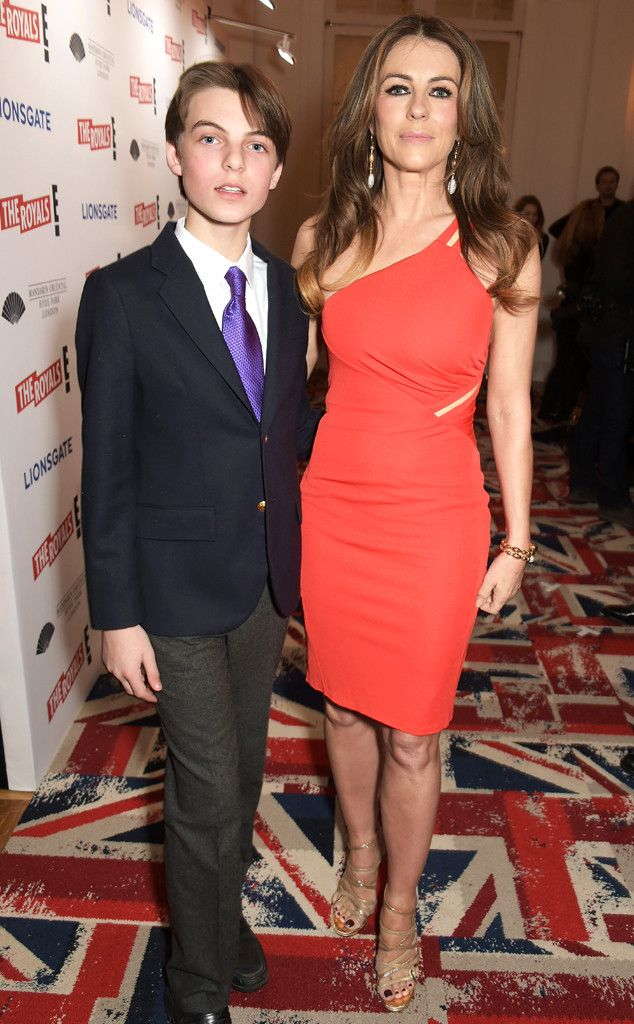 Elizabeth Hurley S Son Is Quite Handsome At Royals Event Elizabeth Hurley Hurley Celebrity Moms