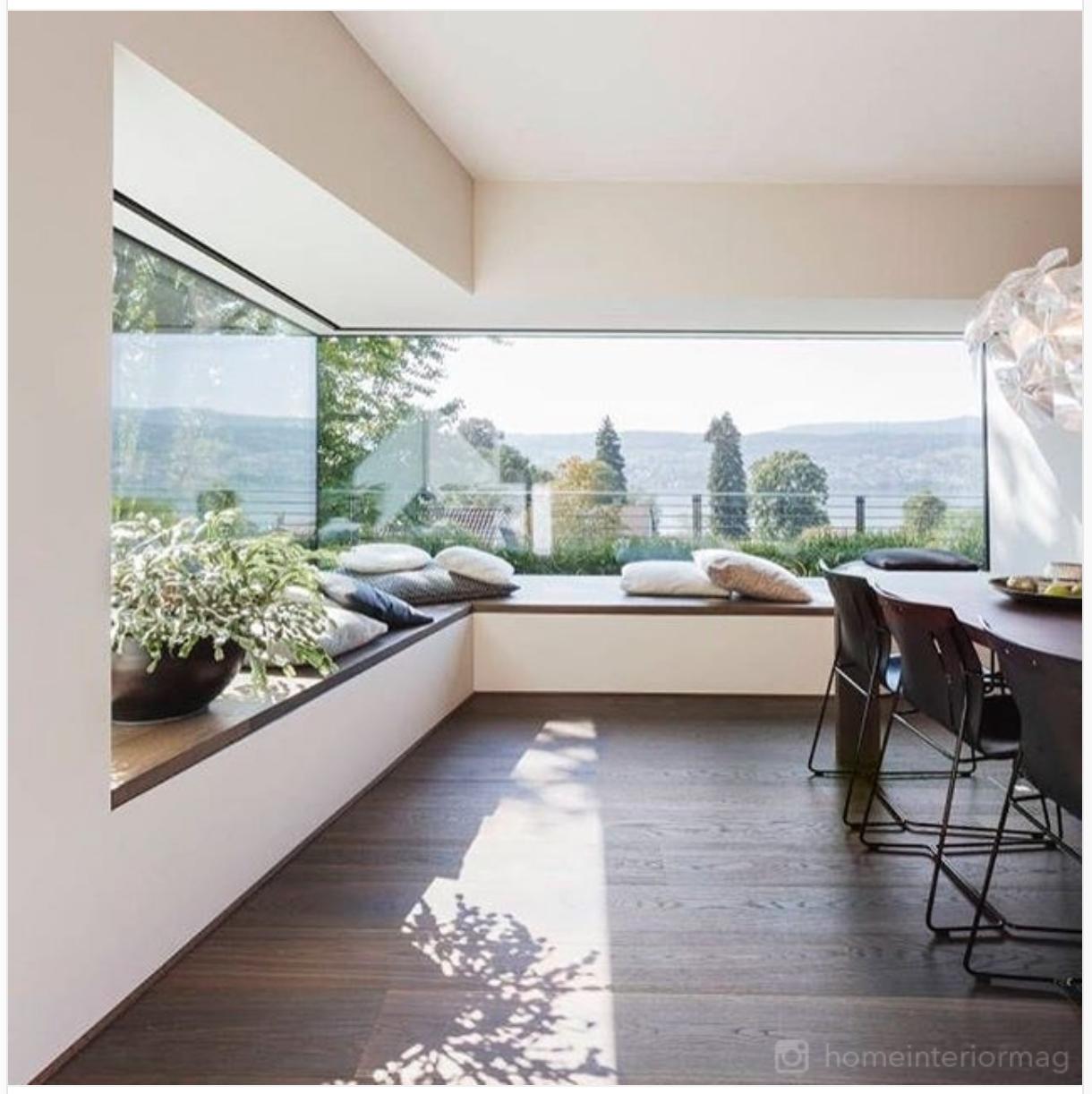 Pinterest nuggwifee modern home design interior also corner window family room house decor rh
