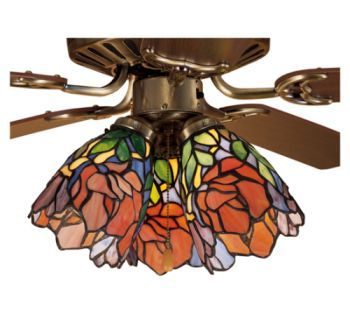 5w tiffany floral iris stained glass ceiling fan lamp shade 5w tiffany floral iris stained glass ceiling fan lamp shade 27482m mozeypictures Gallery