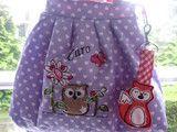 Eine ★ Kinderhandtasche ★ für kleine trendige Mädchen.  Die Tasche ist aus Baumwolle (Innenfutter und Aussenfutter) hergestellt, verstärkt mit einem Vlies.  Bestickt mit einem kleinem Fuchs und...